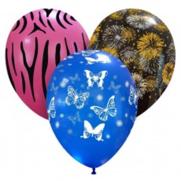 Latex balloons with prints