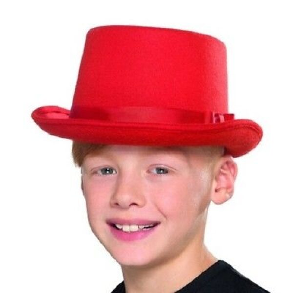 Kids Top Hat Red